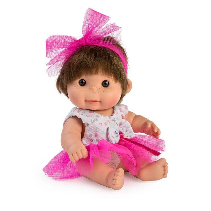 Muñeca Mini Betty tul rosa