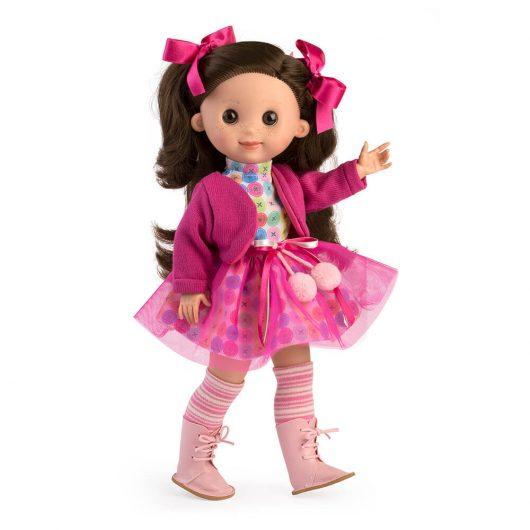 4751 Muñeca Linda tul rosa y leotardos