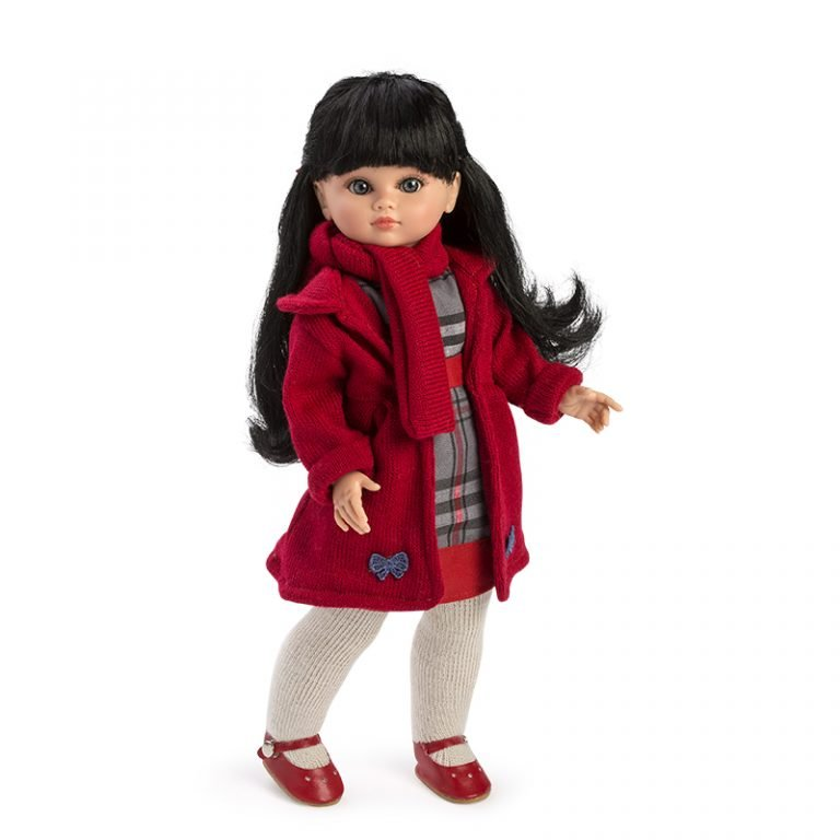 Muñeca Fany vestido rojo 42 cm