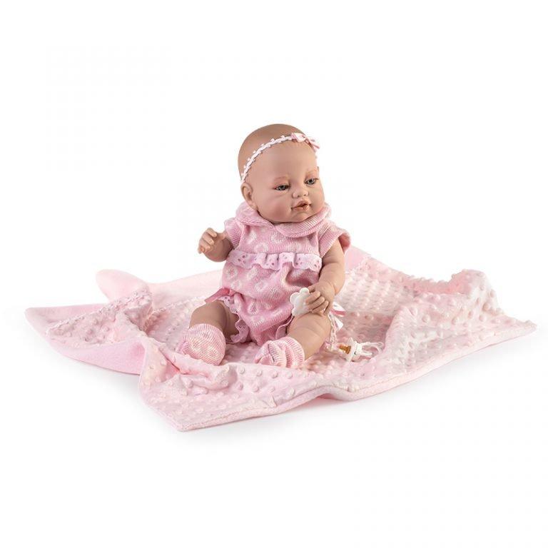 Baby Recién Nacida pelele y mantita rosa