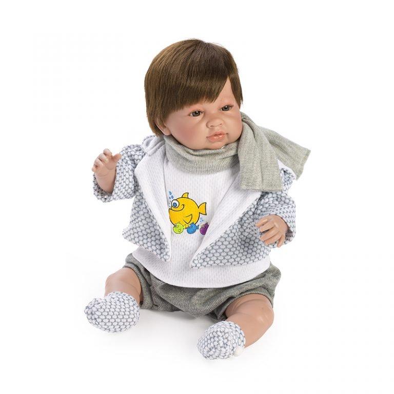 Recién nacido Saoro llorón con bufanda 52 cm