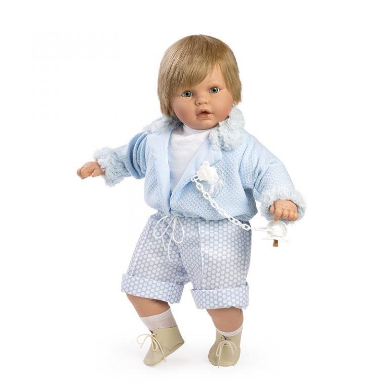 Baby dulzón lloron traje y chaqueta azul 62 cm