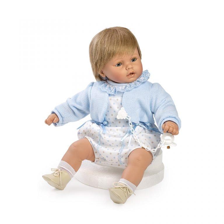 Baby dulzón lloron pelele y chaqueta azul 62 cm